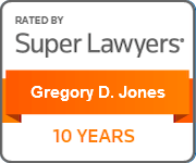 Gregory D. Jones, Super Lawyers, 10 Years