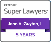 John A. Guyton, III, Super Lawyers - 5 Years